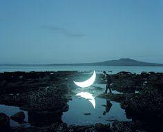 Private Moon, The Moon in front Rangitoto volcanic Island, the Hauraki Gulf near Auckland, New Zealand, By Leonid Tishkov - Cafe Preto Tattoo, Gropius Bau, Tales Of The Unexpected, Espanto, Moon Photos, Moon Pics, Good Night Moon, Night Sea, Luna Lovegood