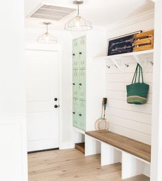 The illustrious drop zone... Gotta have one or just another reason to trip over my kid's shoes? Go! Drop Zone, House Goals, Hgtv, Mudroom, Room Inspiration, Lockers, Storage, Children, Furniture