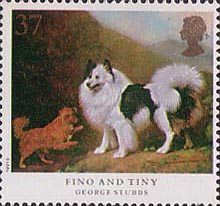 Dogs 37p Stamp (1991) 'Fino and Tiny'