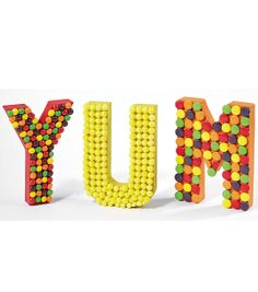 YUM! Such a great idea for a Birthday Party! Candy Paper Mache Letters from Joann.com