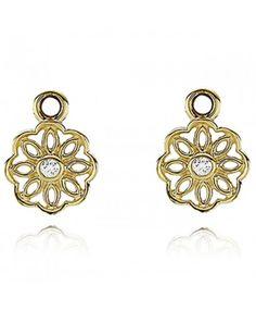 2a97ca289 Cheap Pandora 14K Gold Diamond Pendants Earrings UK Earrings Uk, Pandora  Earrings, Pendant Earrings
