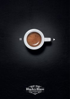 Black & Blaze Coffee: Pause-Play Ad by Inhalt&Form Werbeagentur BSW, Zurich, Switzerland. Client: The Black & Blaze Coffee Roasting Company. Creative Advertising, Print Advertising, Print Ads, Marketing And Advertising, Coffee Advertising, Ads Creative, Best Advertising Campaigns, Creative Coffee, Guerilla Marketing