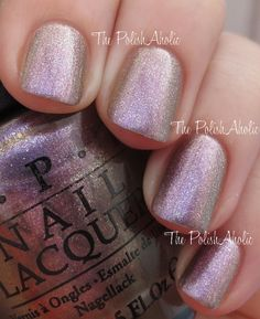 OPI Spring/Summer 2014 Brazil Collection Swatches - Next Stop...The Bikini Zone (a purple/grey duochrome - shade)
