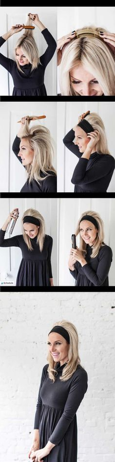 Quick and Easy Hairstyles for Straight Hair - BRIGITTE BARDOT HEADBAND HAIR - Popular Haircuts and Simple Step By Step Tutorials and Ideas for Half Up, Short Bobs, Long Hair, Medium Lengths Hair, Braids, Pony Tails, Messy Buns, And Ideas For Tools Like Flat Irons and Bobby Pins. These Work For Blondes, Brunettes, Twists, and Beachy Waves - https://thegoddess.com/easy-hairstyles-straight-hair
