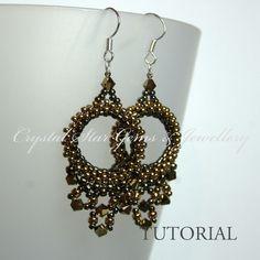 Beaded Hoop Earring Tutorial - Crystal Star Gems & Jewellery