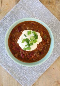 Slow Cooker Chilli Con Carne Chilli Con Carne Recipe, Best Chili Recipe, Chilli Recipes, Mexican Food Recipes, Beef Recipes, Cooking Recipes, Healthy Recipes, Healthy Meals, Family Recipes