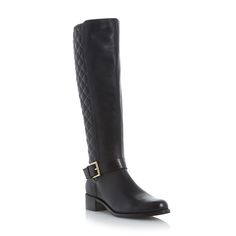 DUNE LADIES TORIN - Quilted Leather Knee High Boot - black | Dune Shoes Online
