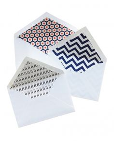 Decorative Envelopes using the Stampin' Up! Envelope Liner die to add pretty papers to the inside of your envelopes!