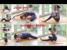 Jóga na uvolnění beder - YouTube Character Shoes, Yoga, Dance, Workout, Fitness, Sports, Youtube, Dancing, Hs Sports
