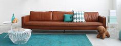 Design Loods 5 Banken Tan Sofa, Cool Apartments, Deco Furniture, Home Living Room, Home Decor Inspiration, House Colors, Interior Styling, New Homes, Outdoor Sofa