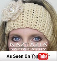 DIY Learn How to Crochet Easy Head Band Headband Wrap Headwrap with Flower - Free Pattern and YouTube Tutorial Video by Naztazia