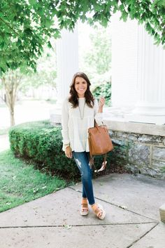 Classic summer to fall style // How to style distressed denim with Nordstrom via Glitter & Gingham