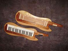 Solid wood retrofit cases for Roland keytars.