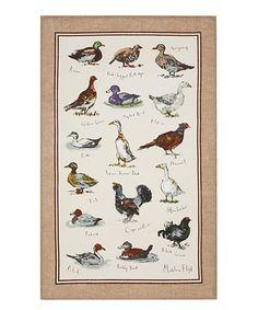 Look what I found on #zulily! Game Birds Linen Tea Towel #zulilyfinds