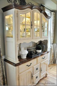 dining room hutch - can we paint hi-doll's furniture this way? i like it. More