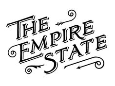 the empire state lettering Cool Lettering, Types Of Lettering, Lettering Design, Branding Design, Logo Design, Hotel Branding, Creative Lettering, Art Design, Vintage Typography