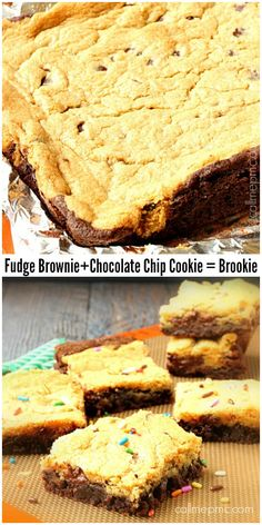 Brookie Recipe - A unique dessert that combines both of your snacking favorites into one satisfying party in your mouth!