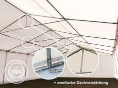 Lagerzelt 5x8 m, PVC dunkelgrün - Profizelt24