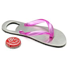 flip flop bottle opener proficient in bar beer accessories bottle openers Beer Bottle Opener, Bottle Openers, Gadget World, Pink Flip Flops, Pink Bottle, Beer Bar, Outdoor Parties, Glass Slipper, Best Beer