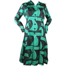 1970's Pauline Trig�re Silk Dress