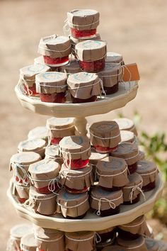 Outdoor Party Food Display | jam wedding favor display | wedding chicks. | invites + party favors.