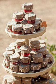 Outdoor Party Food Display | jam wedding favor display | wedding chicks. | invites + party favors.
