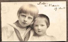 Princess Ileana and big brother Prince Nicolae Ferdinand, Descendants, Romania, Vintage Photos, Sailor, Ethnic, Royalty, Costumes, History