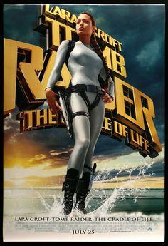 TOMB RAIDER-2-LARA CROFT-THE CRADLE OF LIFE-2003 Lara Croft: Tomb Raider, Noah Taylor, Angelina Jolie Movies, Ciaran Hinds, Djimon Hounsou, Val Kilmer, Life Poster, Lara Croft Tomb, Cinema Film