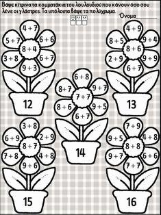 Kindergarten Reading Activities, Preschool Math, Teaching Math, Math Activities, Mental Maths Worksheets, Printable Preschool Worksheets, Math Lesson Plans, Math Lessons, Math Charts