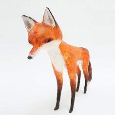 Fox - Paper Sculpture http://abigailbrown.bigcartel.com/product/paper-mache-fox