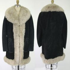 Vintage 1970s Lantry Leathers Suede and Shearling Coat by NobleSavageVintage, $150.00