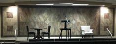 Faux Marble and trompe l'oeil design on a Kingdom Hall stage.