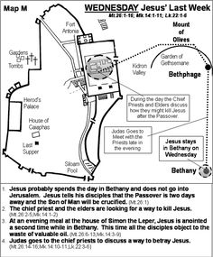 Jesus' Last Week - Wednesday - Matthew 26; Mark 14; Luke 22