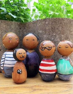 kokeshi dolls by pennyleavergreen, via Flickr
