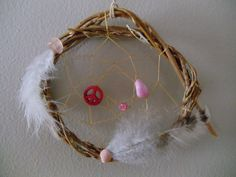 Peace Willow Dream Catcher assorted colors. $7.95, via Etsy.