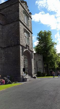 Side profile of the entrance to Luttrellstown Castle Resort