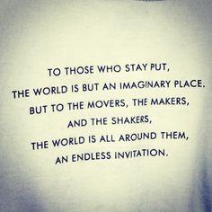 Invitation to travel...