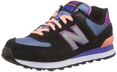 New Balance Damen Sneakers, Mehrfarbig (Black/Silver), 41 EU