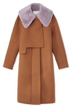 Purple Haze-3.1 Philip Lim Coat-love the style and the fur color and coat color together