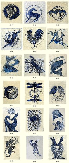 Poetry Tiles - Cards by Iris Milward beautiful♥dLB Illustrations, Illustration Art, Rabbit Art, Handmade Tiles, Decorative Tile, William Morris, Tile Art, Gravure, Ceramic Art