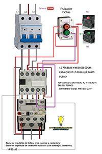 stop start maniobra contactor rele termico