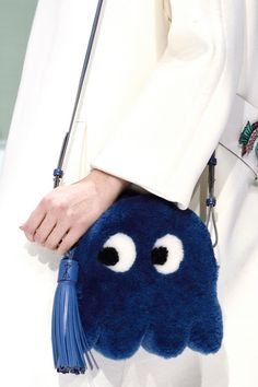 A fun bag from Anya Hindmarch's fall 2016 collection.  #pacman #bag #fall