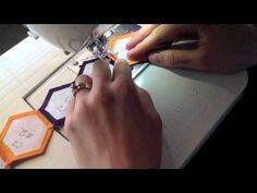 Machine English Paper Piecing - Skill Builder Block Lesson #4 - YouTube hexagons