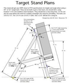 archery target stand plans - google search