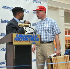 JetBlue arrival and ribbon cutting   @Savannah Morning News & savannahnow.com