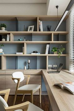 Brilliant 13 Modern Small Home Office Design And Decoration Ideas Modern Small Office Home Decor Ideas for your home who want to take advantage of the remaining space in the house with a small office space design? Office Interior Design, Office Interiors, Interior Design Inspiration, Home Decor Inspiration, Decor Ideas, Design Ideas, Office Designs, Decorating Ideas, Blog Design