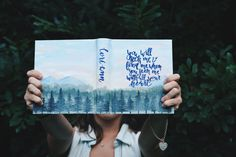 Hand Painted Bible Twilight Forest by InHisNameCo on Etsy