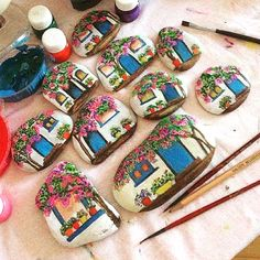 Paintedstone, stonepaintings, mystones, Bodrumevleri