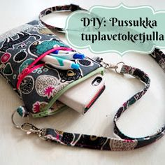 DIY Turbaanipipo rusetilla - Punatukka ja kaksi karhua Sewing Hacks, Sewing Crafts, Sewing Projects, Salopette Jeans, Diy Baby Headbands, Denim Crafts, Fabric Bags, Quilted Bag, Kids Hats