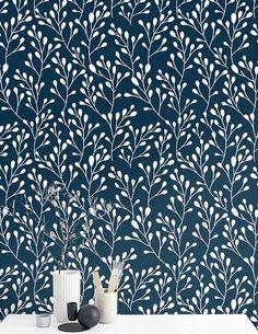 Leaf wallpaper Wall Decor Removable wallpaper Boho by BohoWalls